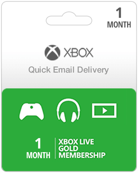 Xbox Live Gold Subscription Card (Email Delivery)