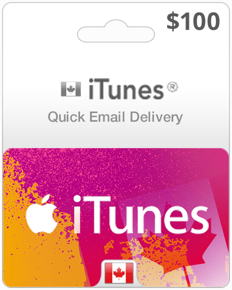 100 Canada Itunes Gift Card Canadian Itunes Codes