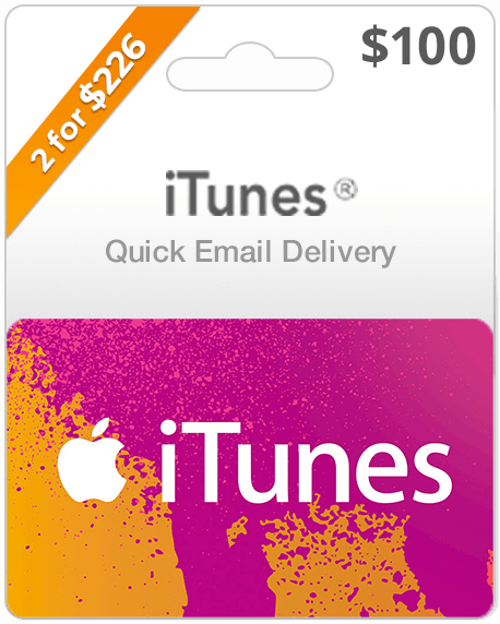 $100 iTunes Gift Card | Online Delivery | Email Codes | USA Gift Card