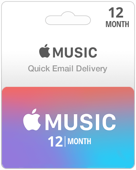 12 Month Subscription Apple Music Gift Card Email Delivery