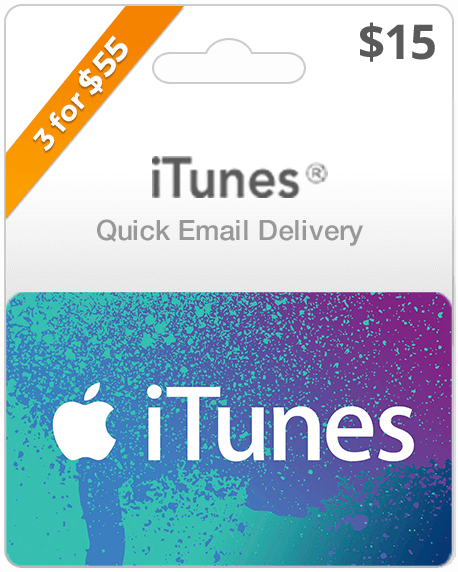 $15 iTunes Gift Card | iTunes Online Delivery | Instant Delivery