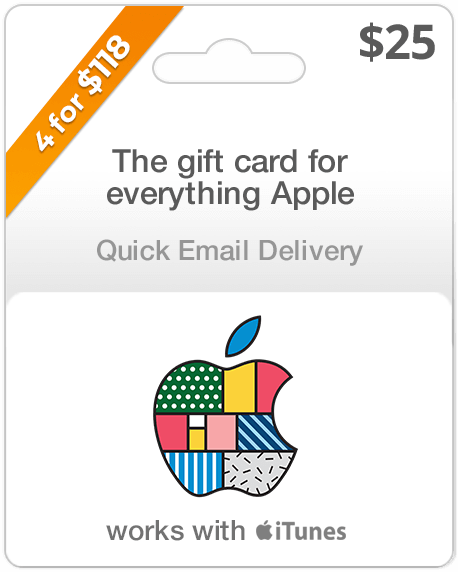 $25 Apple Gift Card - Email Delivery