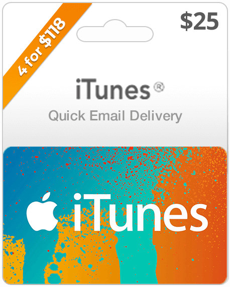 $25 iTunes Gift Card | Email Delivery | Buy iTunes Gift Cards Online