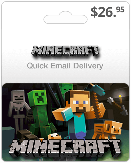 $26.95 Minecraft Gift Card Email Delivery | Buy Minecraft Gift Card