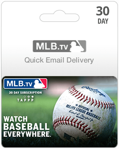 MLB TV Subscription Gift Card | Instant Email Delivery