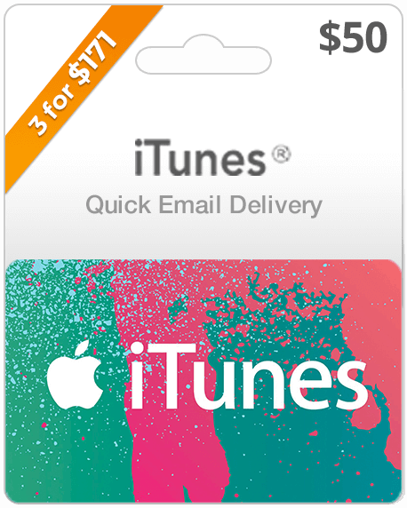 $50 iTunes Gift Card | Buy iTunes Gift Cards | iTunes Email Delivery